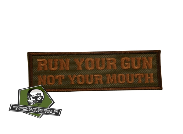 run your gun-Patch (Cordura)
