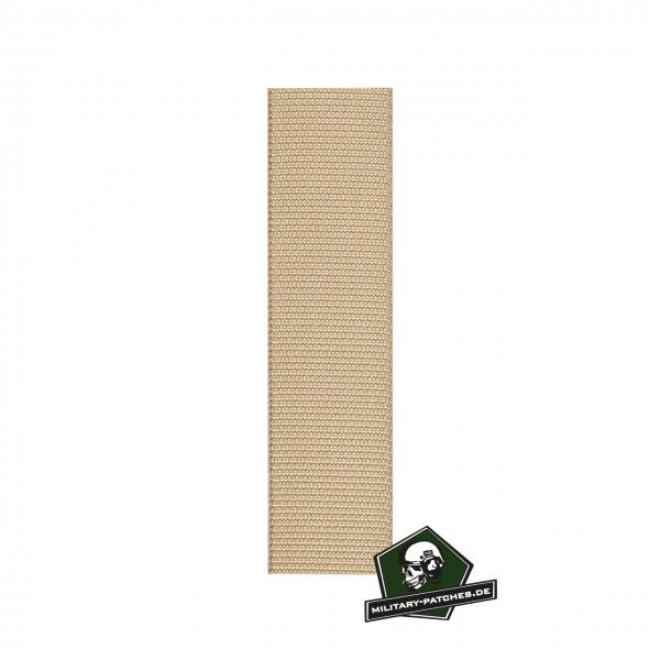 Webbing sand 25mm breit Meterware