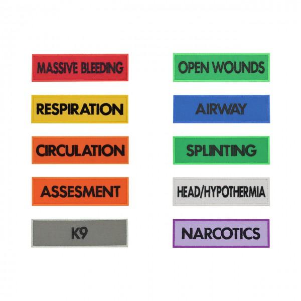 Markierung Medicpack 140 x 40mm - SATZ (alle Markierungen)