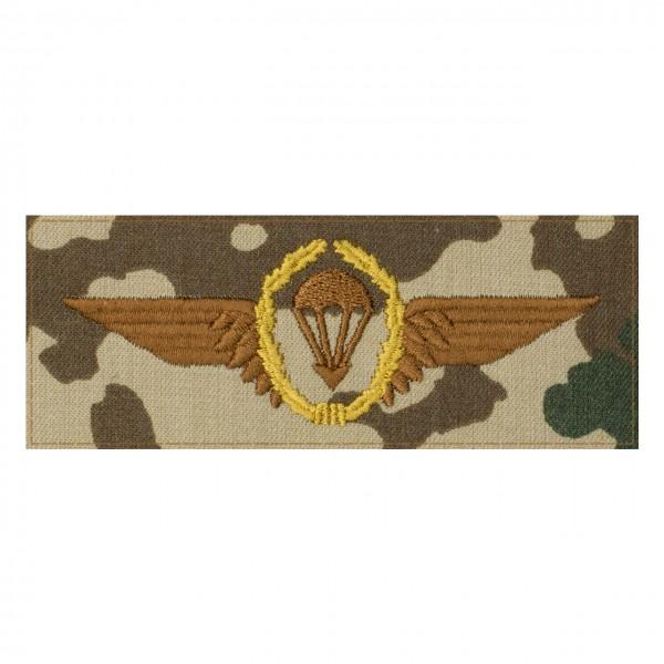 Fallschirmspringerabezeichen BRONZE Bundeswehr auf 3farb-Tarndruck mit Klett