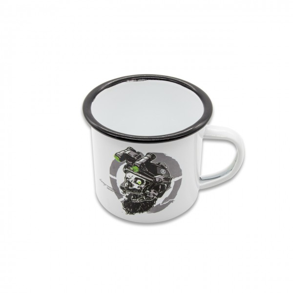 "Tasse Emaille ""FORTUNE FAVORS THE BRAVE"" 300ml"