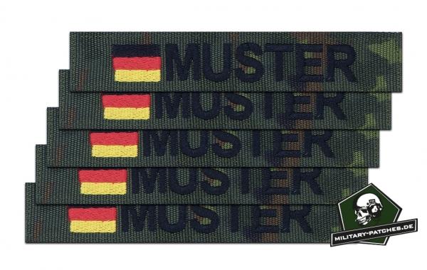 Namensband 1/3/5 Stück 5farb/schwarz und Bundesflagge