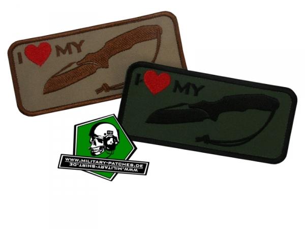 """Patch """"i love my ... Knive (K1)"""""""