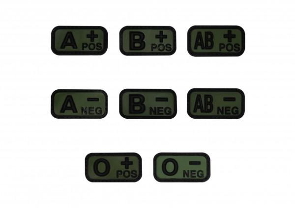 Blutgruppenkennzeichnung PVC oliv klein