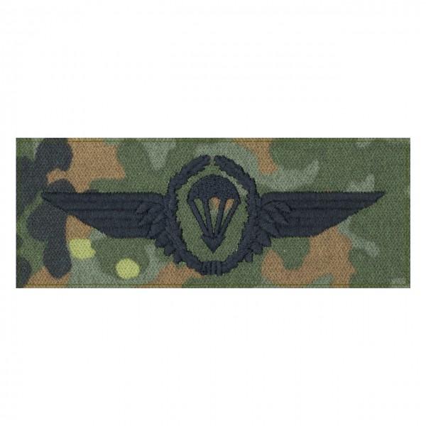 Fallschirmspringerabezeichen Bundeswehr auf 5farb-Tarndruck mit Klett