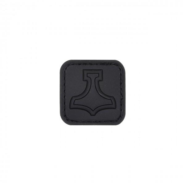 MJOELNIR, PVC-Patch 30mm, schwarz