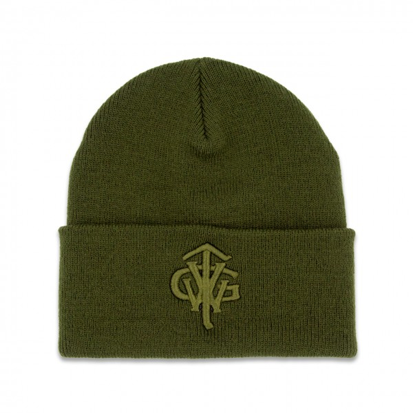 "Classic Long Beanie ""TVWG COLLEGE"", oliv"