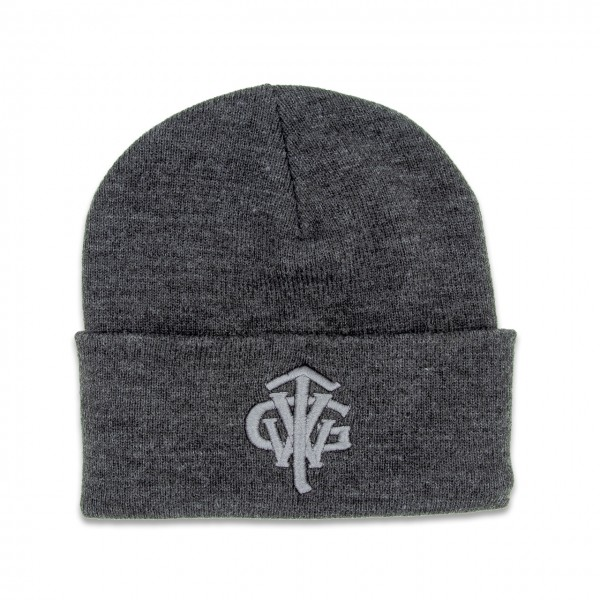 "Classic Long Beanie ""TVWG COLLEGE"", dark grey"