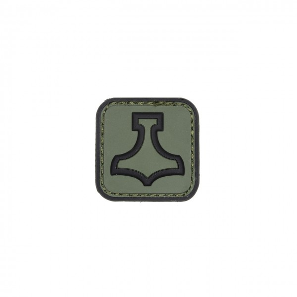 MJOELNIR, PVC-Patch 30mm, oliv