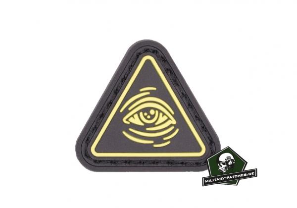 Patch L M S Gear Ranger Eye All seeing Eye schwarz/gelb (PVC-Rubber-Patch)