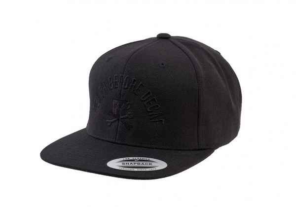 Cap Snapback DEATH BEFORE DECAF - Original Flexfit® - black/black