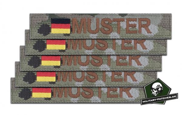 Namensband 1/3/5 Stück multicam/braun und Bundesflagge