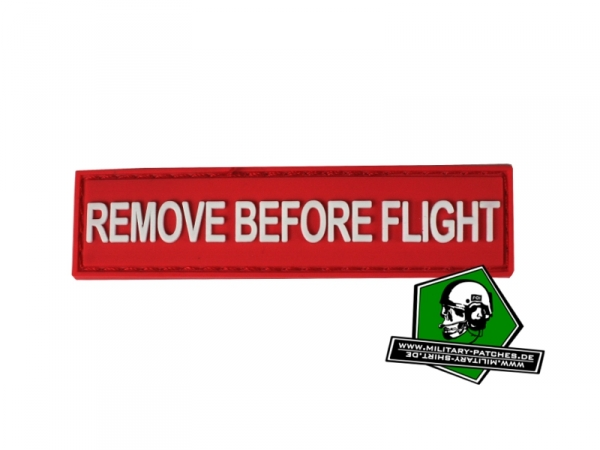 "Patch ""REMOVE BEFORE FLIGHT"" (PVC-Rubber-Patch)"
