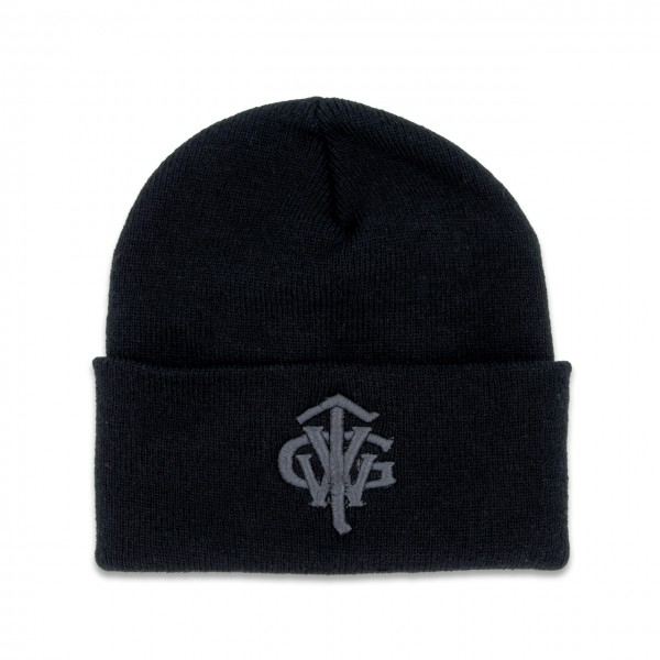 "Classic Long Beanie ""TVWG COLLEGE"", schwarz"