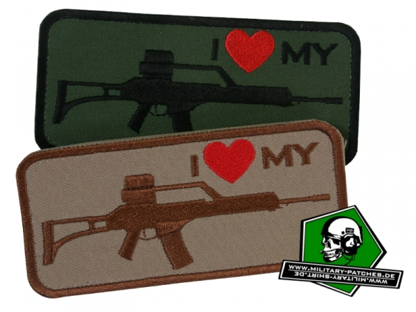 "Patch ""i love my ... G36"""