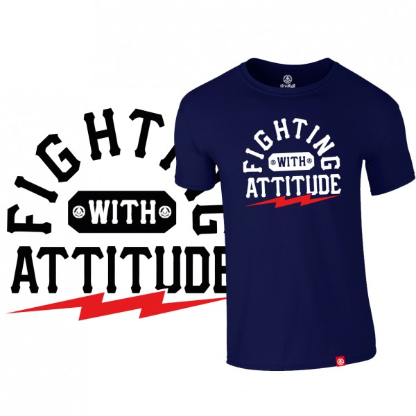 "Shirt ""FIGHTING ATTITUDE"", navy"