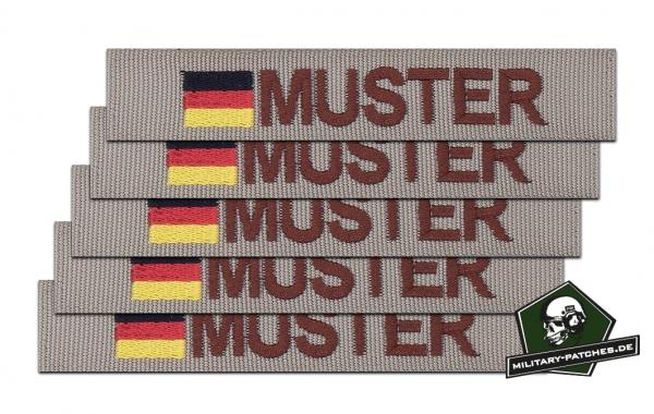 Namensband 1/3/5 Stück sand/braun und Bundesflagge