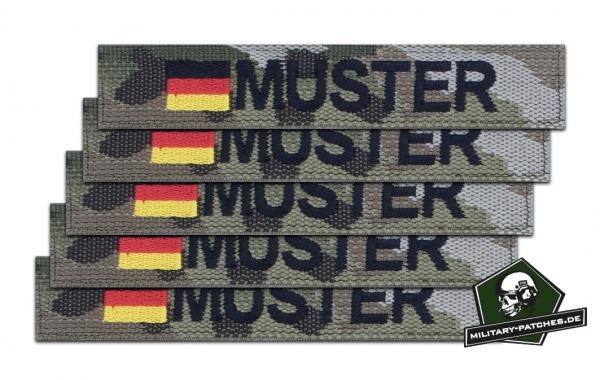 Namensband 1/3/5 Stück multicam/schwarz und Bundesflagge