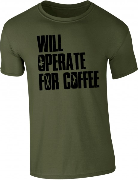 "SHIRT ""WILL OPERATE"" (olive drab)"