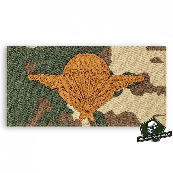 Fallschirmspringerabezeichen Frankreich 3farb/braun mit Klett