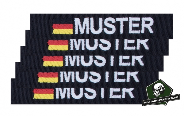 Namensband 1/3/5 Stück schwarz/weiss und Bundesflagge