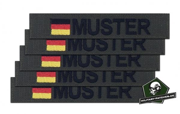 Namensband 1/3/5 Stück oliv/schwarz und Bundesflagge