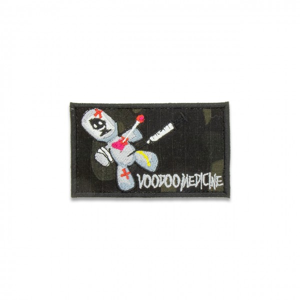 "Patch ""VOODOO MEDICINE"", 50x85 mm, multicam® black"