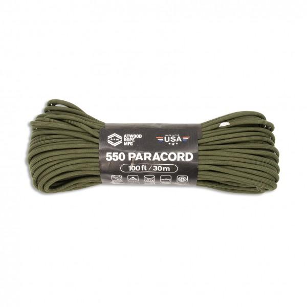 ARM 550 Paracord 4 mm - 30 m, oliv