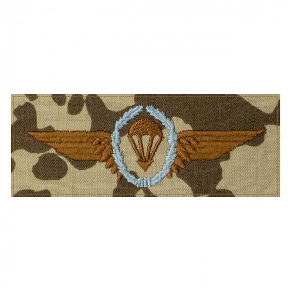 Fallschirmspringerabezeichen SILBER Bundeswehr auf 3farb-Tarndruck