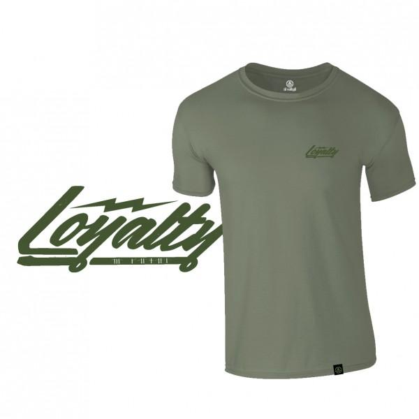 "Shirt ""LOYALTY"", flat dark earth"