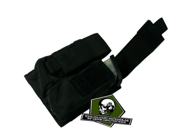 Condor Velcro-Doppeltasche schwarz