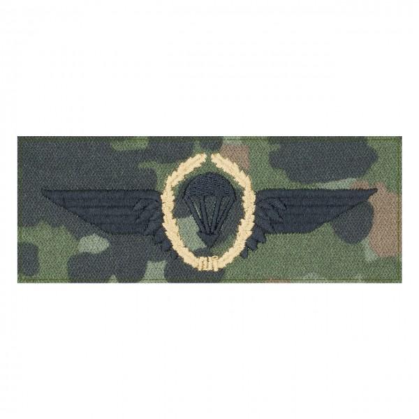 Fallschirmspringerabezeichen BRONZE Bundeswehr auf 5farb-Tarndruck