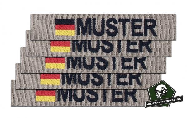 Namensband 1/3/5 Stück sand/schwarz und Bundesflagge