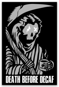 "Sticker ""DECAF REAPER"""