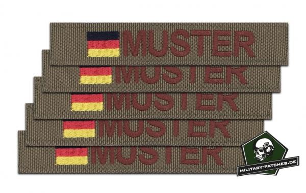 Namensband 1/3/5 Stück coyote/braun und Bundesflagge