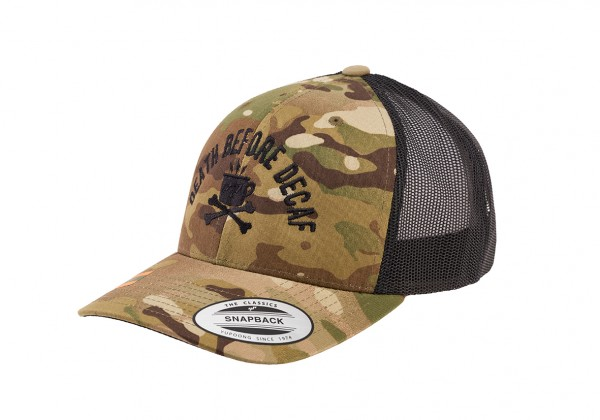 "Cap TacTruck ""Death before Decaf"" - Original Flexfit® Multicam®"