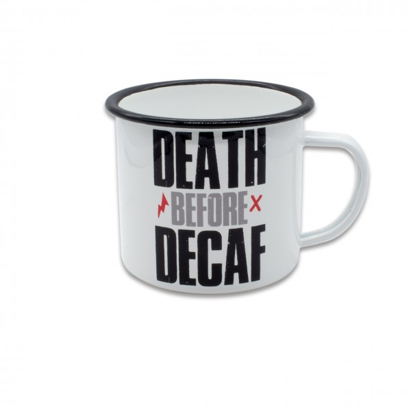 Tasse EMAILLE DEATH BEFORE DECAF 2.0 480ml