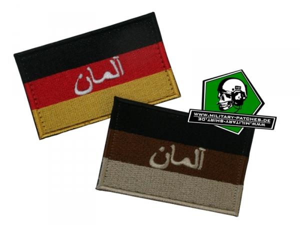 Flagge DEU mit arabischer Schrift