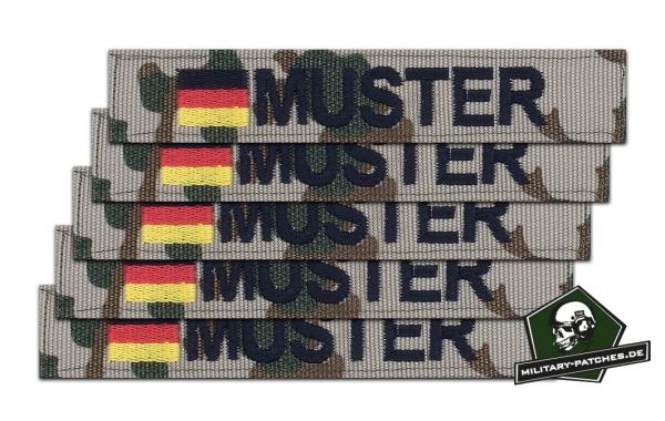 Namensband 1/3/5 Stück 3farb/schwarz und Bundesflagge